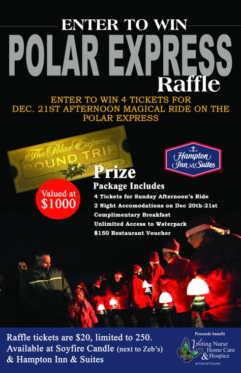 Polar Express Raffle Flyer